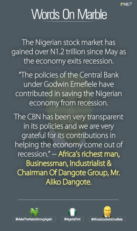 CBN words on marble advert
