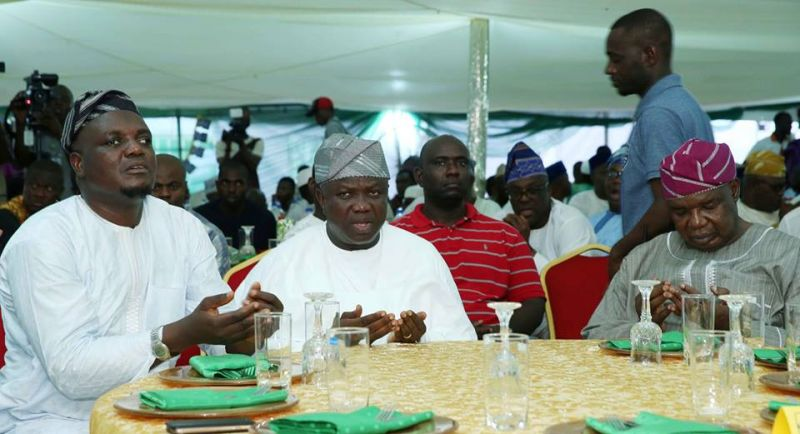 Governor Ambode in a prayer section with Muslims to break fast on Tuesday 30th May 2017.