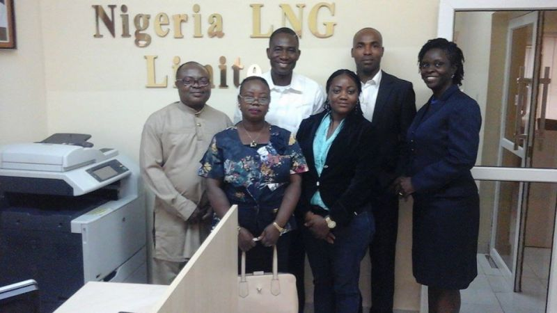 News Express and NLNG teams after the fruitful meeting.
