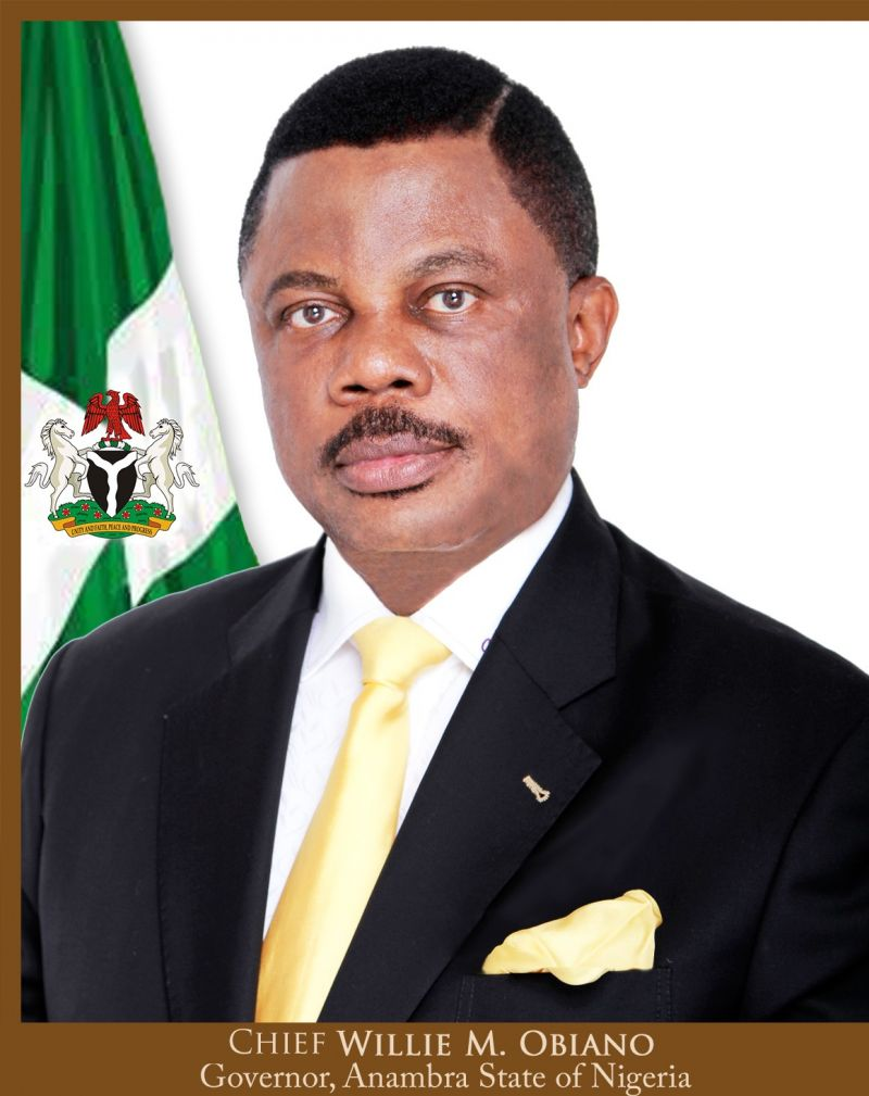 Anambra State Governor, Chief Willie M.Obiano.