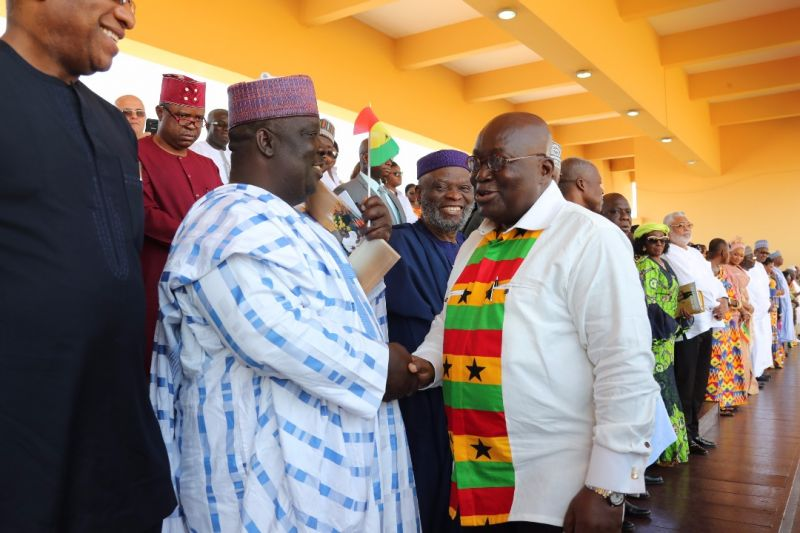 "The president of Ghana and his Vice in a warm handshake with Deputy Senate Leader Bala Ibn Na""Allah representing Kebbi South, in Accra, during the independence celebration of Ghanas independence.pics by Garba Ahmed"