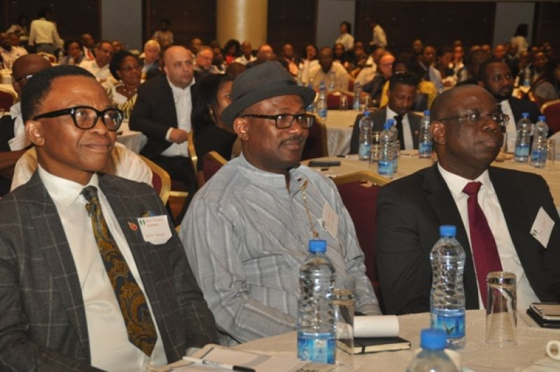 L-R: Chairman, Petroleum Technology Association of Nigeria, Okoroafor Bank-Anthony; Executive Secretary, Nigeria Content Development and Monitoring Board, Simbi Wabote; and Managing Director, Shell Nigeria Exploration and Production Company, Bayo Ojulari, at the opening ceremony of a workshop on Nigeria Content Opportunity in Bonga South West Aparo Deep Offshore Project organised by SNEPCo in Lagos… on Wednesday, 7th June, 2017.