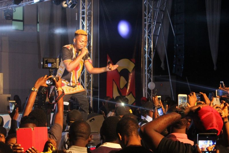 Olamide on stage at the Yudala Zero Gravity held at Landmark centre Oniru Lagos state on 2nd October 2016.