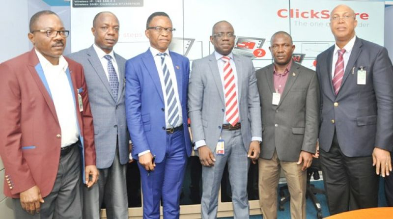 L-R: Financial Secretary,  Petroleum Technology Association of Nigeria (PETAN), Sheba Palana; Assistant Secretary, Wole Ogunsanya; Chairman, Bank Anthony Okoroafor; Managing Director, Shell Nigeria Exploration and Production Company (SNEPCo), Bayo Ojulari; PETAN Ex-Officios, Ibe Chubby Ibe and Emmanuel Onyekwena, during a courtesy visit to SNEPCo offices in Lagos ...on Thursday (April 21)