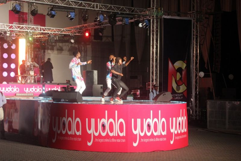 The winners of the Yudala dance competition performing at Yudala zero gravity on 2nd oct 2016 held in landfmark centre Oniru.