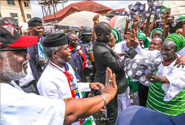 •Vice President Osinbajo during his visit to the Okitipupa area of Ondo State.