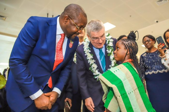 IOC President arrives Nigeria to rousing welcome