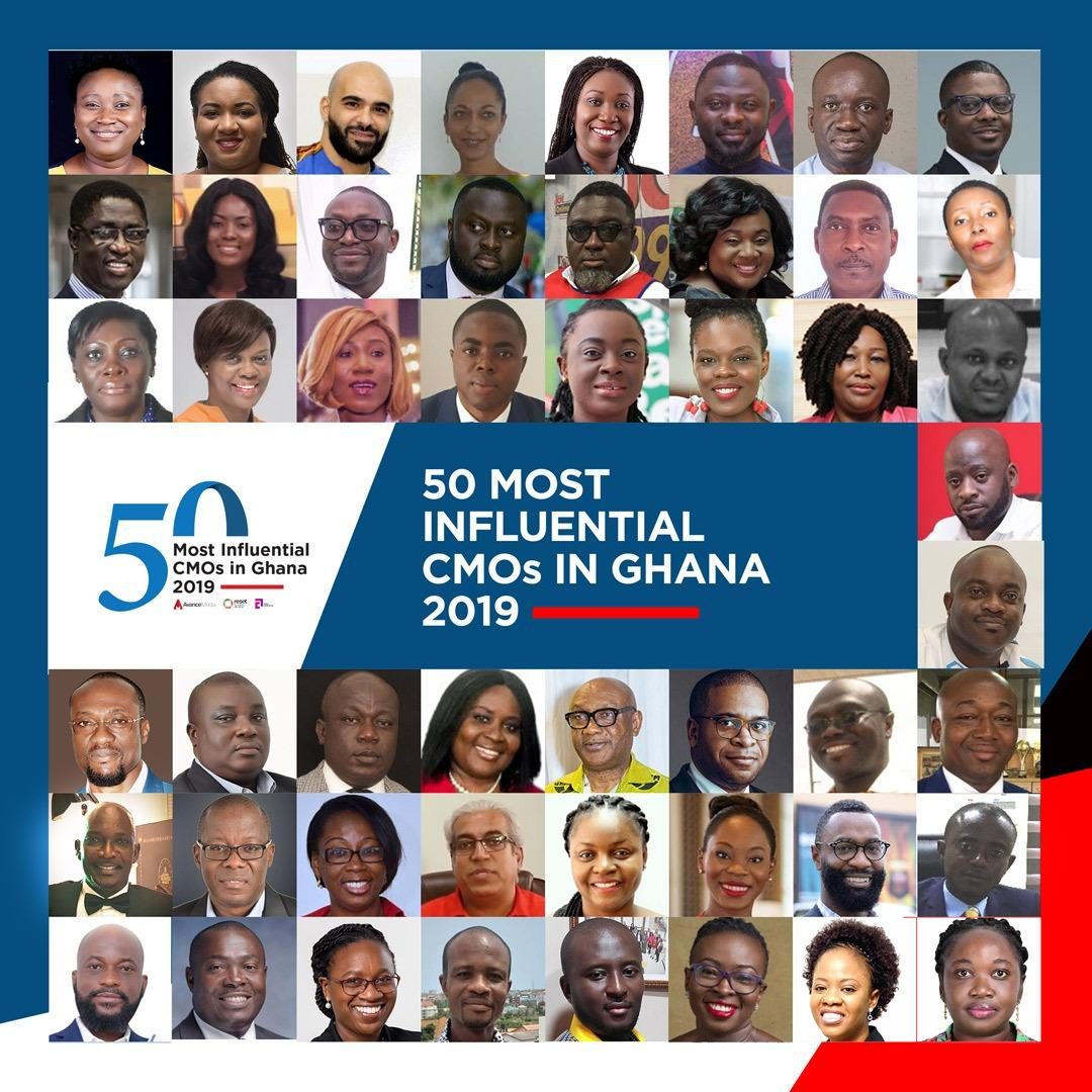 Hammer, Noel Kojo-Ganson, Akofa Djankui and otherS listed in Inaugural 50 Most Influential CMOs in Ghana