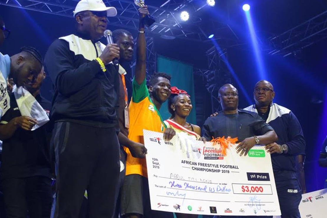 Unbeatable Abdul Titi Kone re-emerges African Freestyle Football Champion