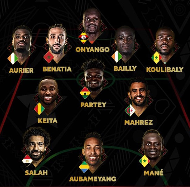 Nigerian players missing in Africa's Best X1