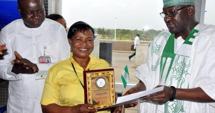 Lagos Airport cleaner who returned passenger's $12,200 rewarded with apartment