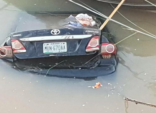 •Car belonging to missing General Alkali fond in a pond in Jos