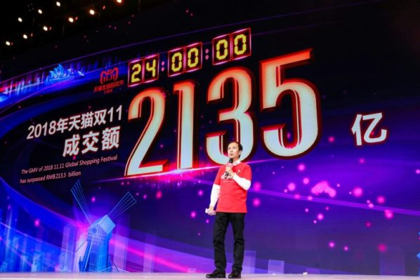 Alibaba breaks sales record on singles day