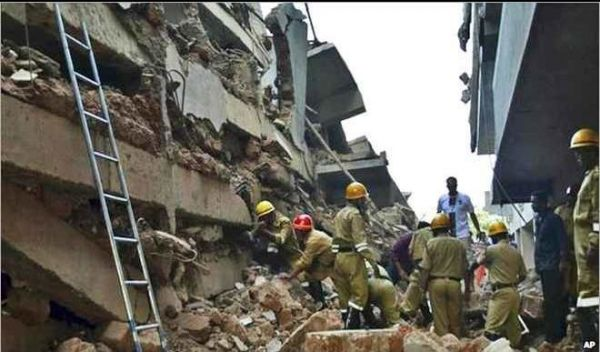 •Collapsed building