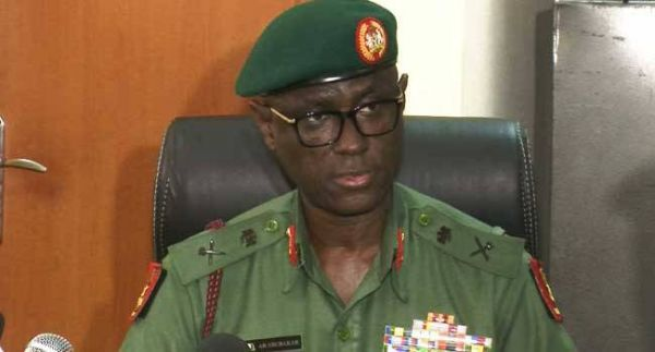 GOC 82 Division Nigerian Army, Major General Adamu Abubakar.