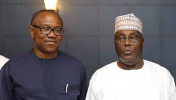 •PDP Presidential Candidate Atiku and his running mate, Peter Obi.