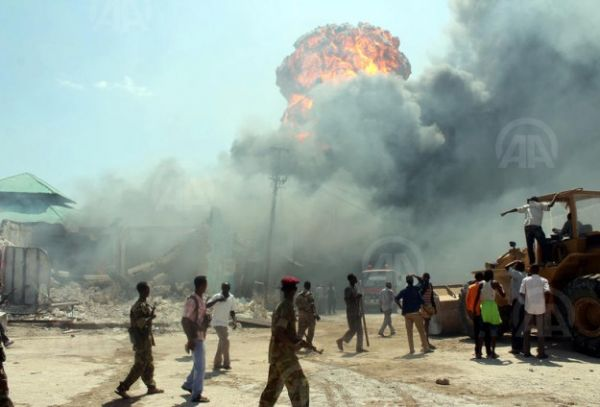 •Scene of a bomb blast scene