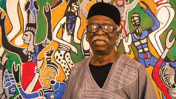 •Celebrated veteran artist Bruce Onobrakpeya