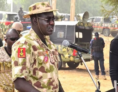 •Chief of Army Staff, Lt.-Gen. Tukur Buratai