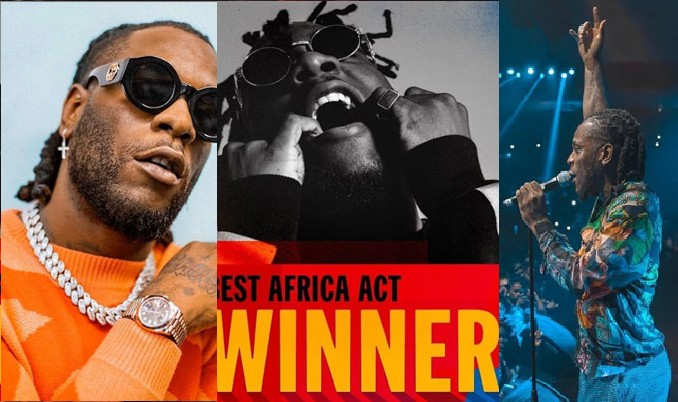 Burna Boy Wins 'Best Africa Act' Award at 2019 MTV EMA's