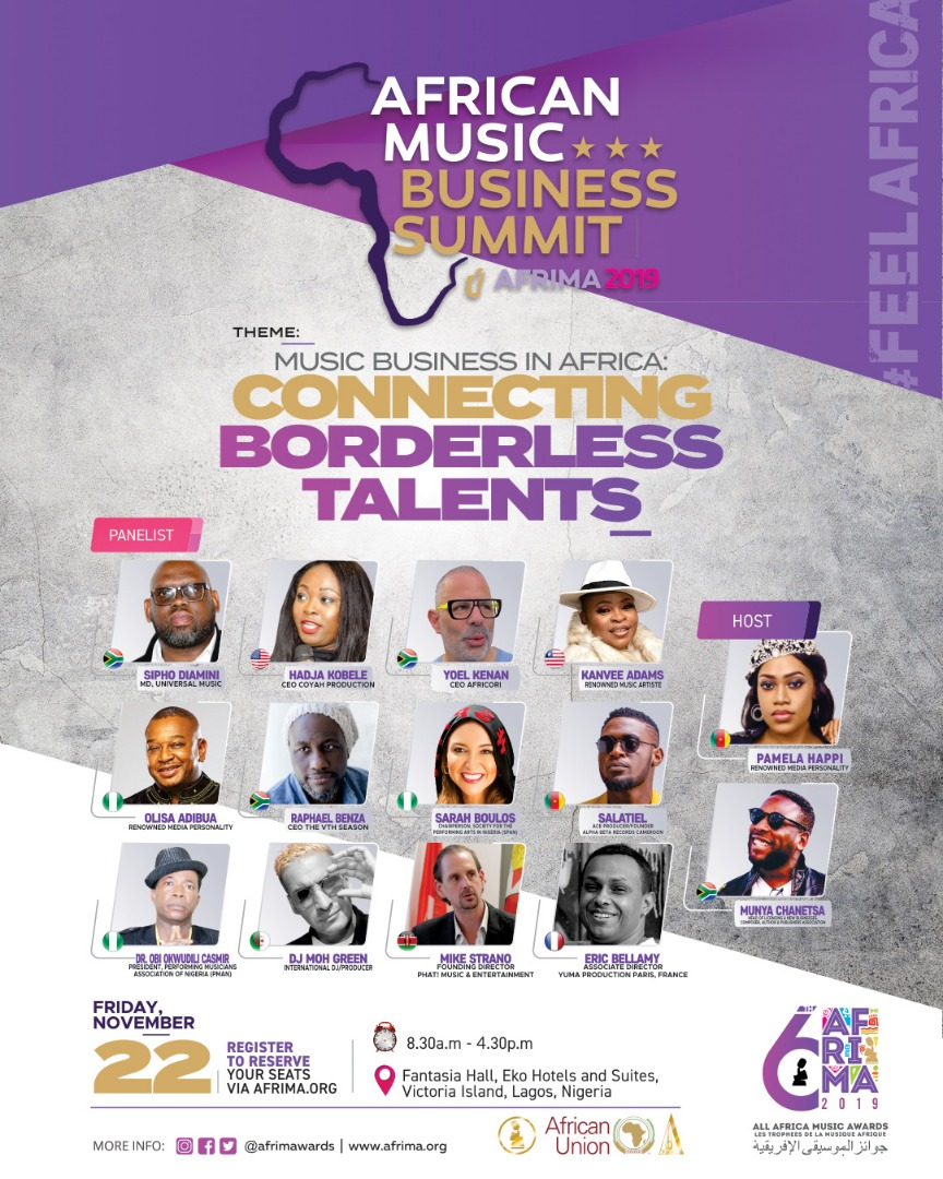 6th AFRIMA: Sipho Dlamini, Sarah Boulos, Yoel Kenan, Adebisi A. Adedeji, Udochi Muogilim, Obi Okwudili Casmir, Eric Bally, others to speak at AMBS