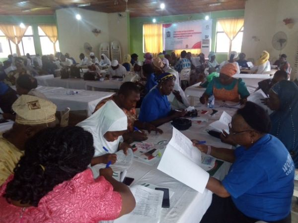 •A cross section if participants at the training programme