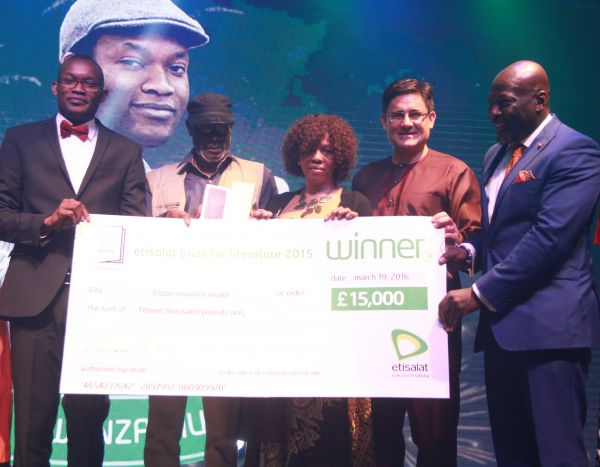 Fiston Mwanza Mujila wins the 2015 Etisalat Prize for Literature