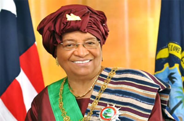 •Out-going Liberian President, Ellen-Johnson Sirleaf