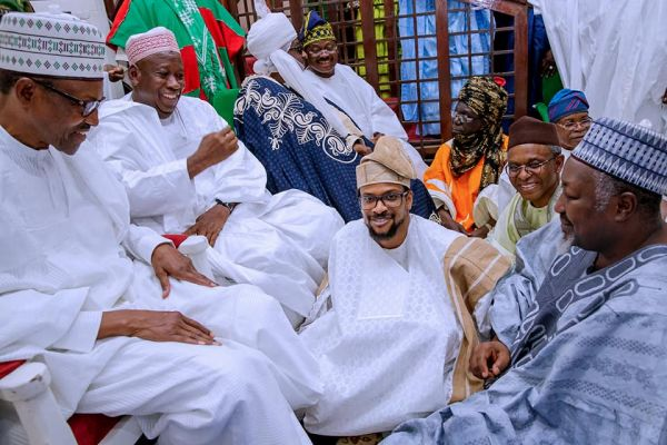 Buhari, Saraki, Tinubu, other heavyweights storm Kano as Ajimobi's son weds Ganduje's daughter