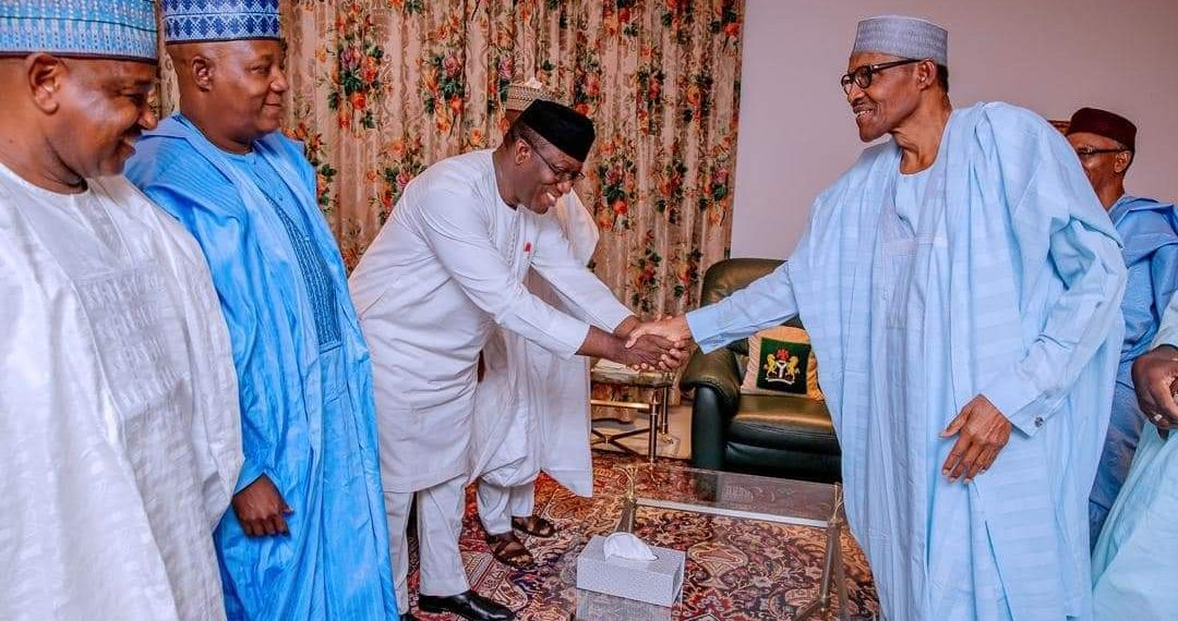 Buhari meets APC governors at Aso Rock