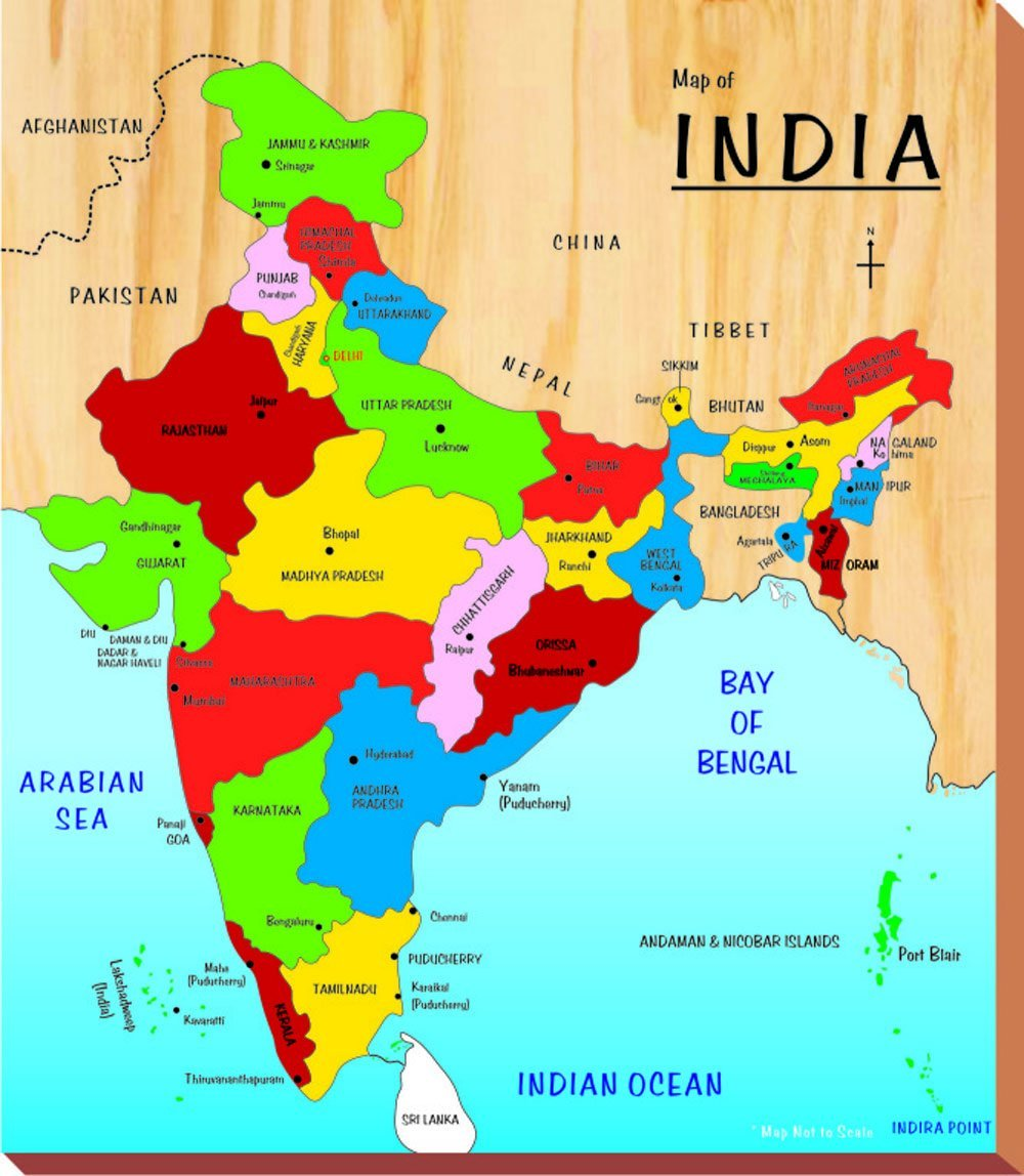 •India on map