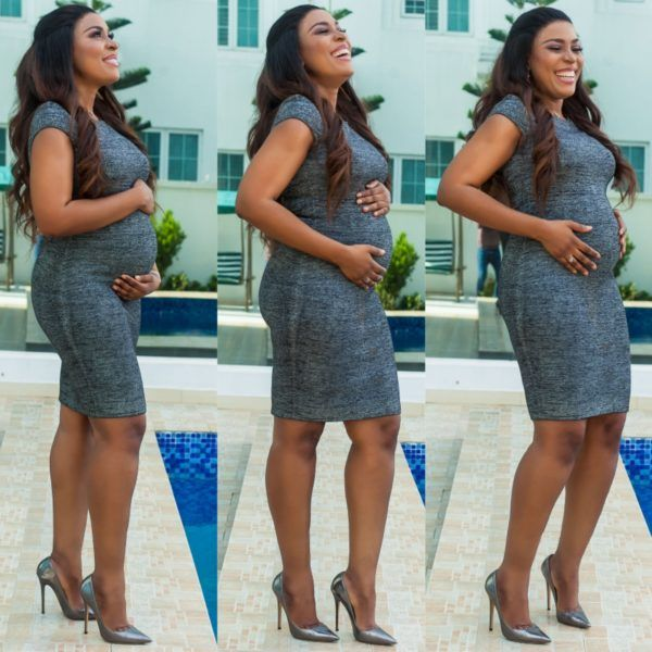 Queen of bloggers Linda Ikeji heavily pregnant (See photos)