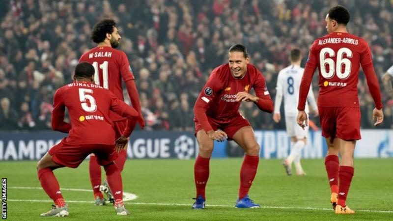Champions League: Liverpool win to move to top of group, Chelsea hit back from 4-1 down to draw 4-4 with nine-man Ajax