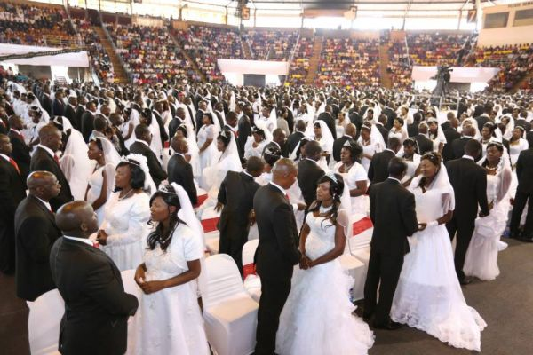 •Mass wedding in a Catholic Church parish