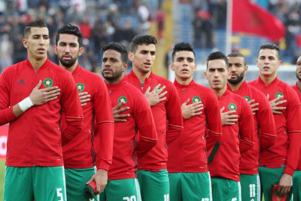 •The victorious Atlas Lions of Morocco