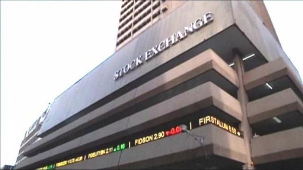 Nigerian stocks down to almost two-week low