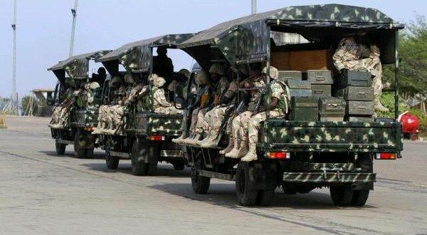 •Nigerian troops on patrol