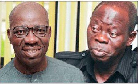 •Comrade Oshiomole and Governor Obaseki