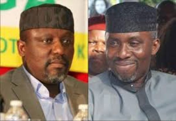 •Governor Okorocha and his anointed son-in-law, Chief Uche Nwosu
