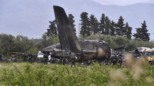 •The crashed Algerian military plane