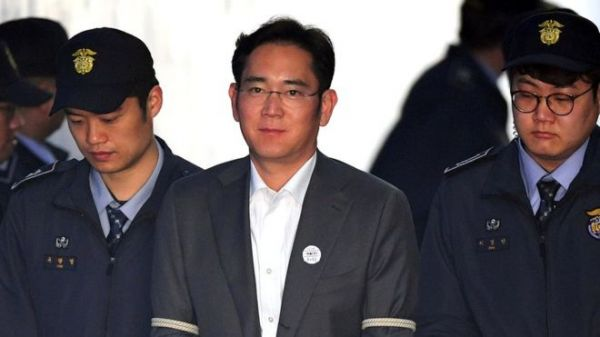 •Convicted Samsung heir Lee Jae-yong. Photo: Getty Images.