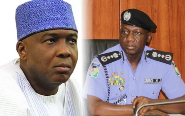 •Photo collage of Senate president Bukola Saraki and IGP Ibrahim Idris