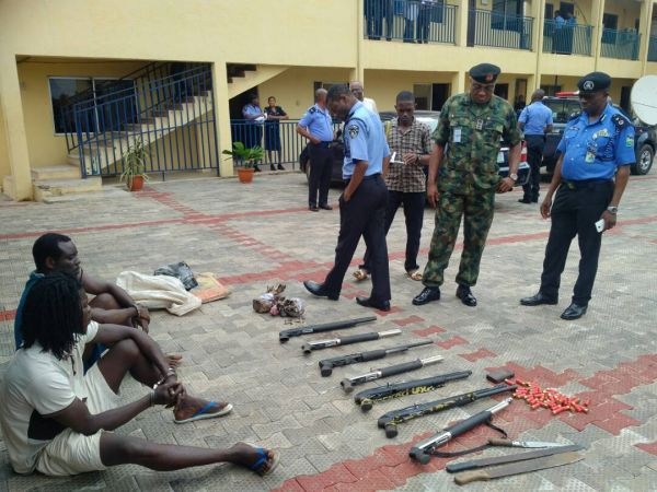 •Suspected criminals recently paraded Anambra Police at Awkuzu.