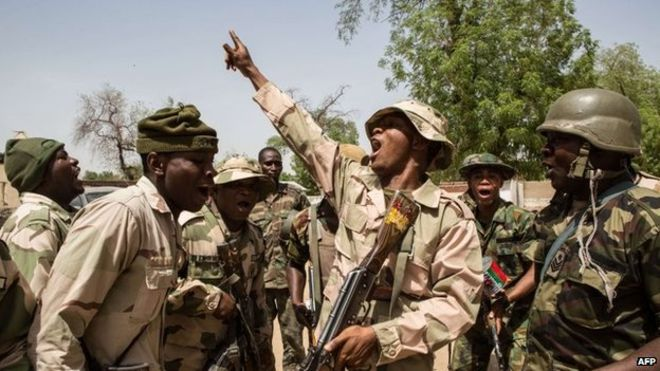 •Nigerian troops set for action