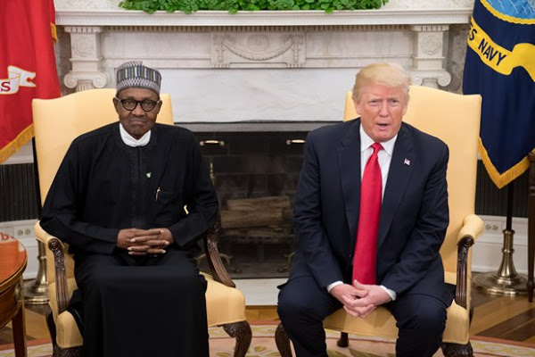 •US President Trump and President Buhari
