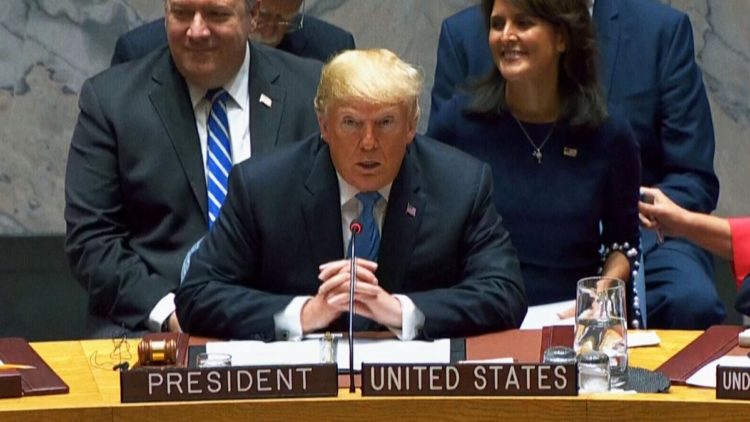 •Trump speaks at UN Security Council