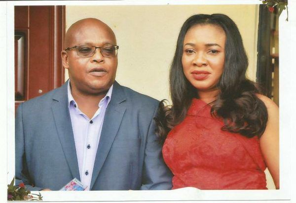 •The suspect, Stephen Akpata, with his murdered wife, Onyinye Eze.