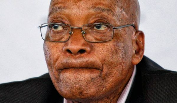 •Outgoing South African President Jacob Zuma