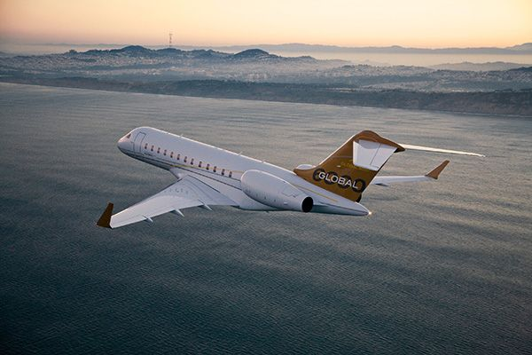 •A Bombardier Global 6000 business jet