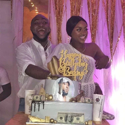 Chioma catches Davido red handed on his birthday